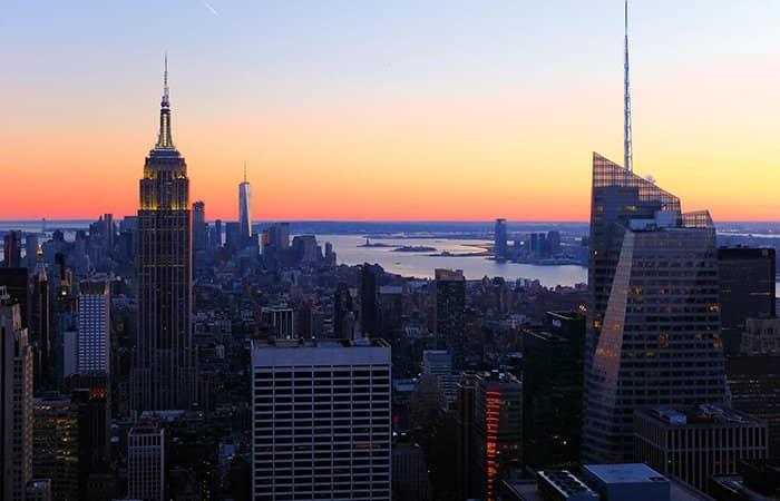 Biglietti per il Top of the Rock - Panorama tramonto