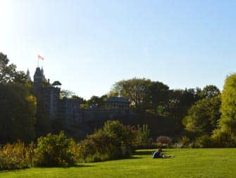 Central Park a New York - Belvedere Castle in estate