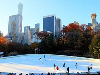 Central Park a New York - Pattinaggio Wollman Rink