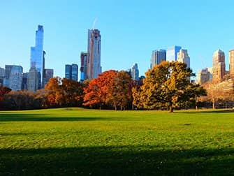 Central Park a New York - Sheep Meadow in autunno
