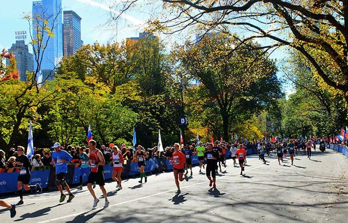 Maratona di New York- Corridori in Central Park