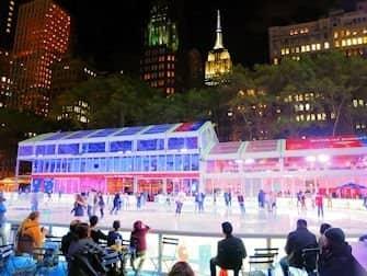 Pattinare a New York - Bryant Park2