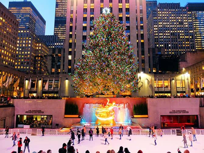 Pattinare a New York - Pattinaggio al Rockefeller Center