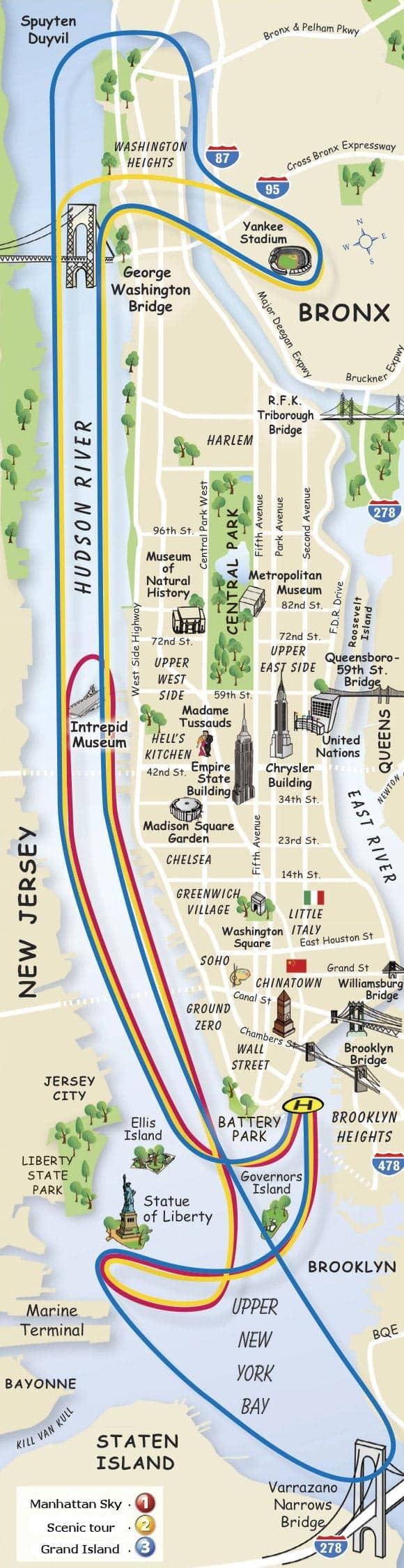 Elicottero A New York : Gli itinerari del giro in elicottero a new york
