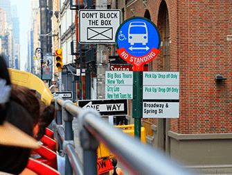 Autobus turistico a New York - Fermata