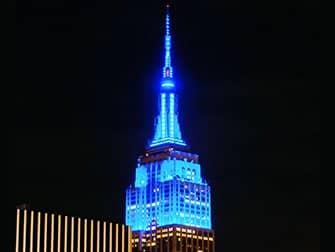 Biglietti Empire State Building - Luci blu