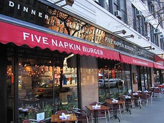 Five Napkin Burger a New York