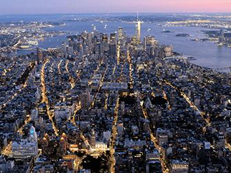 Giro in elicottero e in battello di sera a New York - Downtown