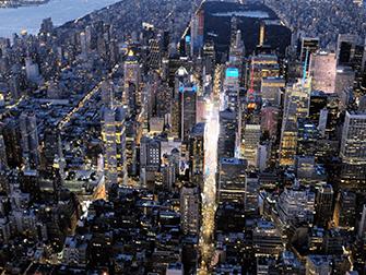 Giro in elicottero e in battello di sera a New York - Times Square