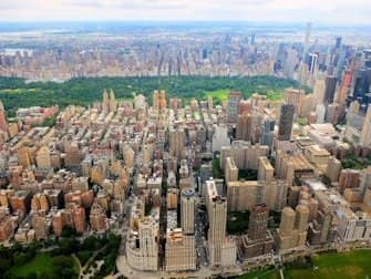 Gli itinerari del giro in elicottero a New York - Central Park