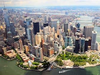 Gli itinerari del giro in elicottero a New York - Manhattan skyline