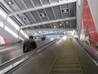 PATH il sistema ferroviario dal New Jersey a Manhattan - Scale mobili