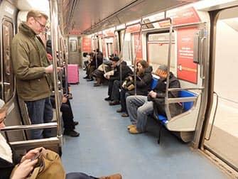 PATH il sistema ferroviario dal New Jersey a Manhattan - Sul treno