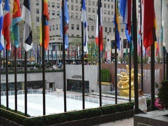 Pista di pattinaggio sul ghiaccio Rockefeller Center