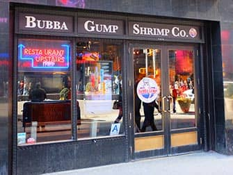 Ristoranti a tema a New York- Bubba Gump