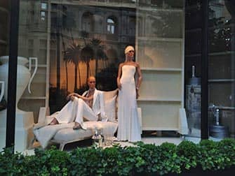 Shopping nell'Upper East Side in NYC -Vetrine
