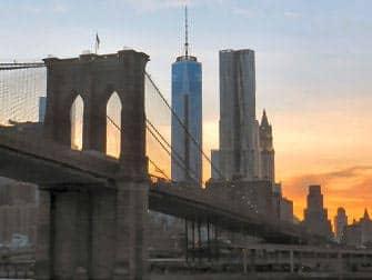 Brooklyn Bridge e World Trade Center