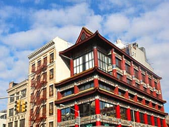 Chinatown a New York Tipico Edificio
