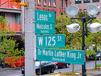 Harlem a New York - Segnaletica