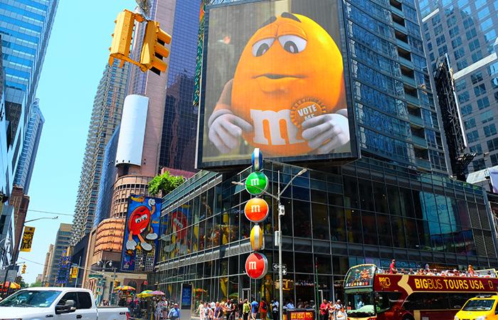 Negozio M&M a Times Square - Esterno