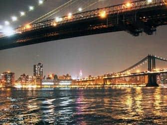 Parchi a New York - Brooklyn Bridge di notte