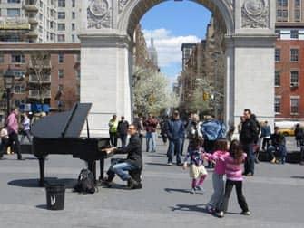 Parchi a New York- Musica dal vivo in Washington Square Park