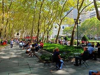 Parchi a New York - Terrazza Bryant Park