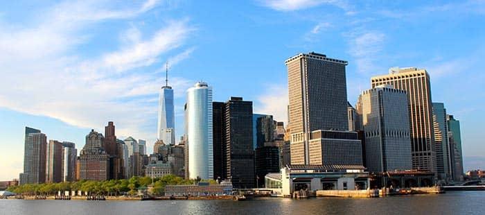 Staten Island in NYC- Profilo di Manhattan