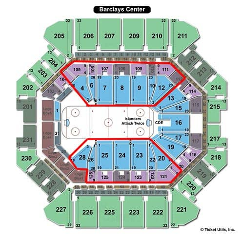 New York Islanders - mappa stadio