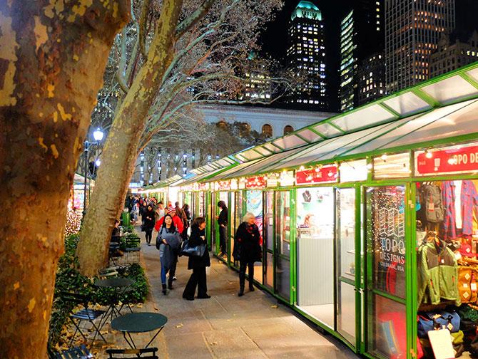 La stagione natalizia a New York - Bryant Park