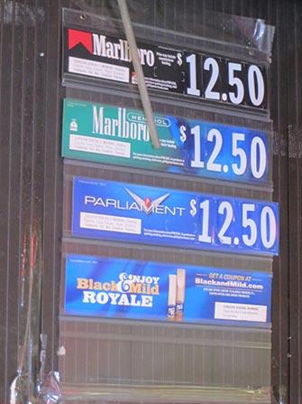 Fumare a NYC - Prezzi