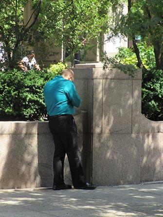 Fumare a NYC - Uomo che fuma
