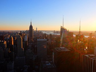 Giorno di Capodanno a New York - Top of the Rock al tramonto