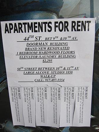Lavorare e vivere in NYC - Annuncio di affitti