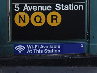 WiFi a New York - WiFi alla fermata 5th Avenue