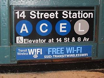 WiFi a New York - Wifi gratuito alla stazione della metro