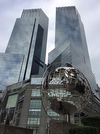 Show televisivo a New York- Columbus Circle e Time Warner Center