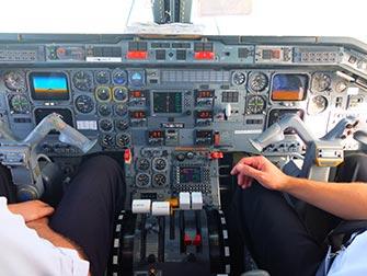 New York alle Cascate del Niagara in aereo privato per un giorno- Cabina di pilotaggio