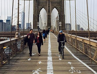 Noleggio di biciclette a New York - In bici sul Brooklyn Bridge