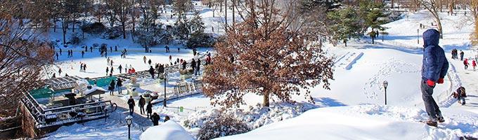 Una perfetta giornata invernale a New York