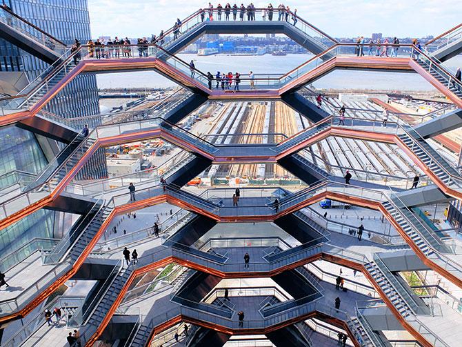 Hudson Yards Vessel a New York - Vista da Vessel