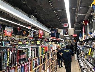 Tour dei supereroi a New York - Negozio di fumetti