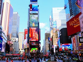 Tour dei supereroi a New York - Times Square