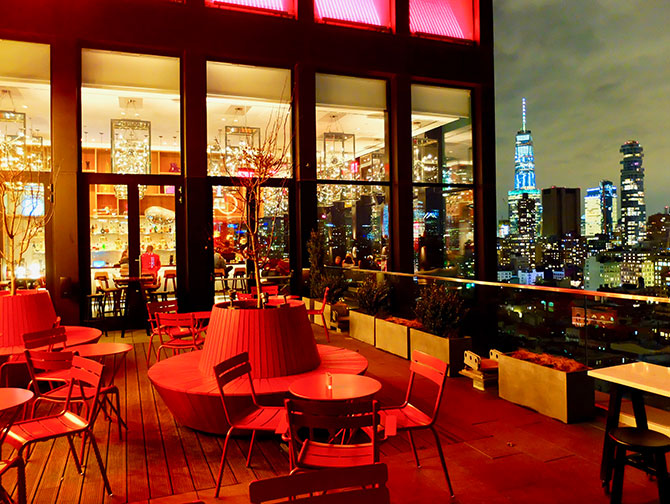 citizenM New York Bowery Hotel - Terrazza panoramica