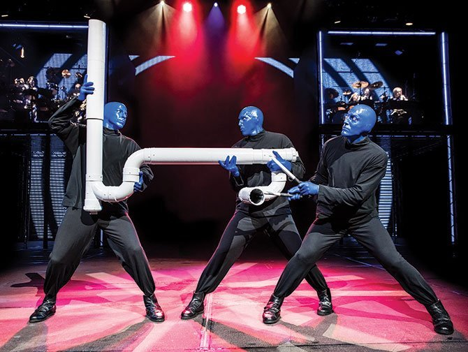 Spettacoli a Broadway per bambini - Blue Man Group